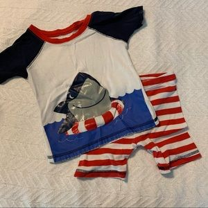 Just One You pajama set- shark